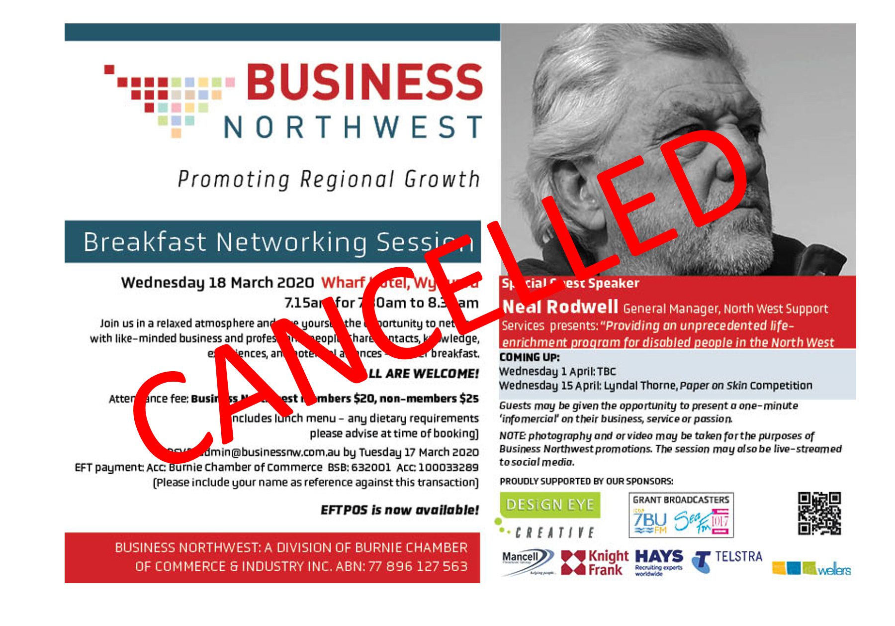 Cancelled Rodwell breakfast